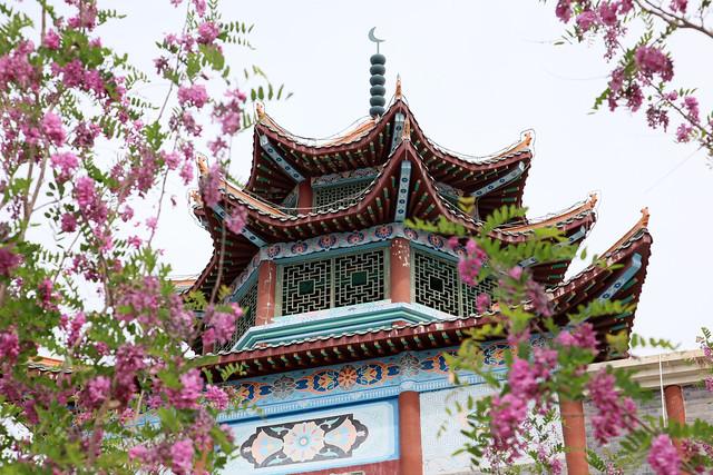 Palace of kings in Spring, Hami (Kumul) 春のハミ王府