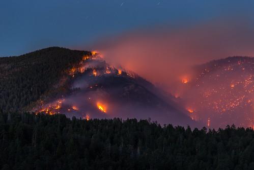 newmexico nature forest fire forestfire wildfire lacueva santafenationalforest thompsonridge thompsonridgefire
