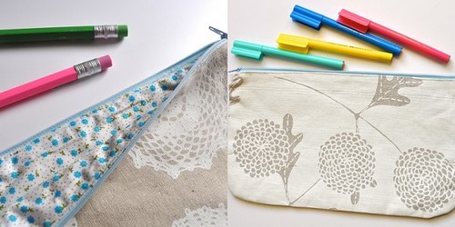 doily pencil case