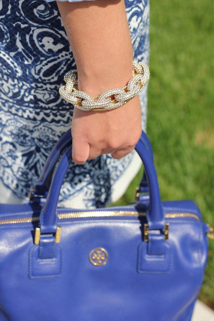 blue tory burch bag