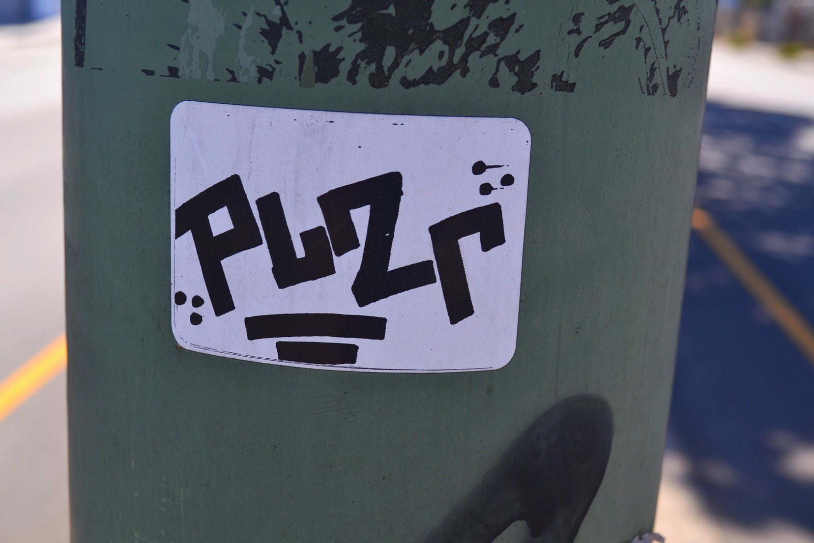 PLZR, Street Art, Graffiti, Oakland, Sticker, slap