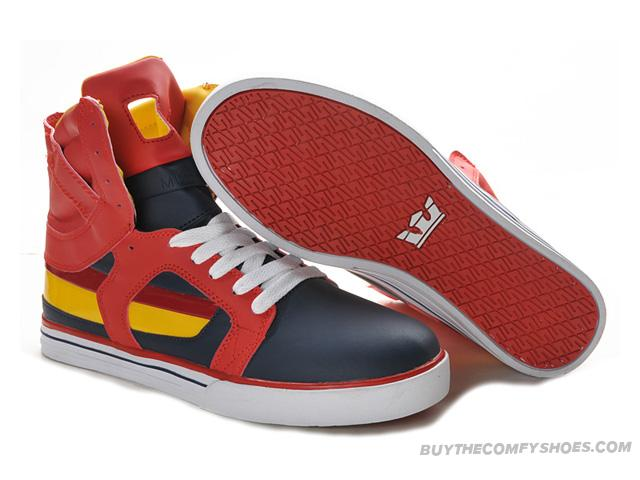 buy popular 85b55 73753 ... Mens Supra Skytop II Skate Shoe Red Black White Yellow   by qiaowang916