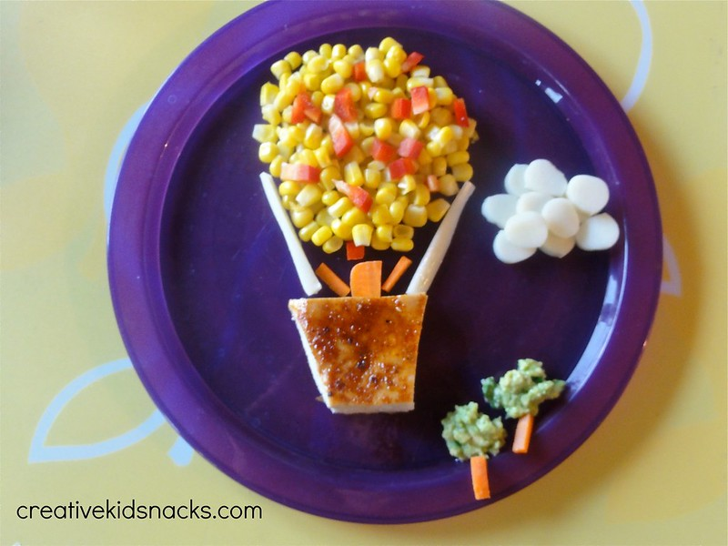 Healthy and Creative Kids Dinner: Hot Air Balloon Ride