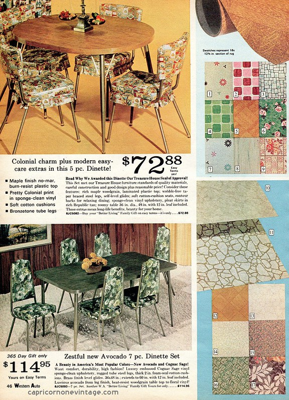 Capricornonevintage ugly 1970 dining room sets for 1970 dining room set