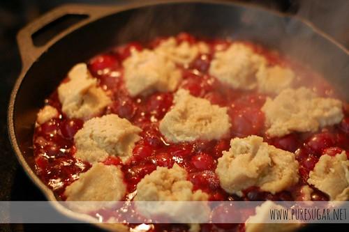 Skillet Sour Cherry Cobbler | www.puresuresugar.net