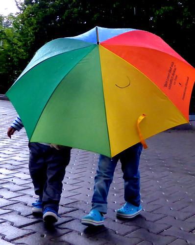 Raining and fun - Fabio and Andrea