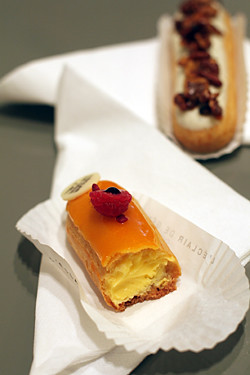 passion fruit - raspberry eclair