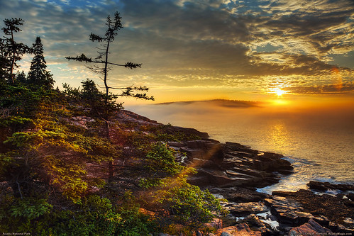ocean seascape nature clouds sunrise landscape nationalpark waves maine newengland barharbormaine acadia barharbor mountdesertisland mdi acadianationalpark bestcapturesaoi