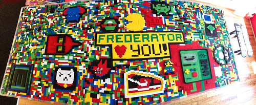 Building the Frederator Lego conference table by Fred Seibert