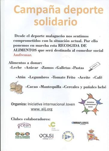 foto cartel Deporte Solidario