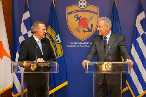 Statements following the meeting between the Minister of National Defence Dimitris Avramopoulos and the Minister of Defence of the Republic of Cyprus at the Ministry of Defence (22/07/2013)
