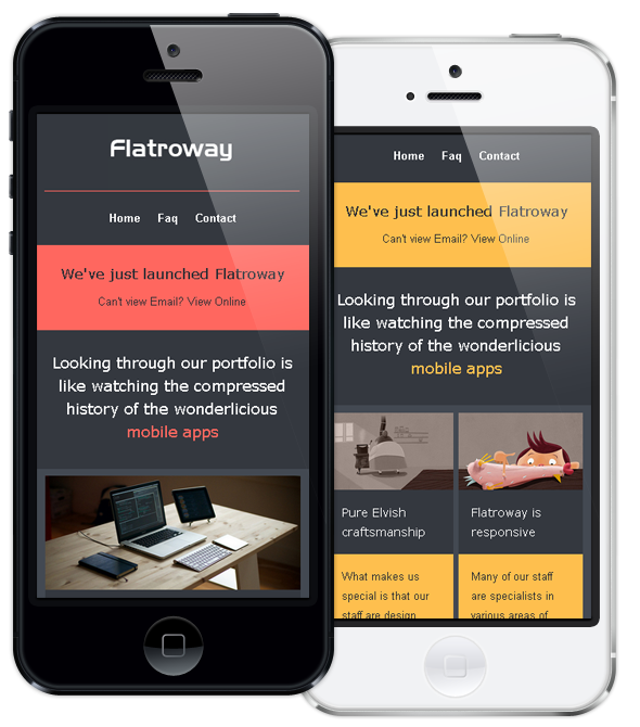 Responsive Email Template FlatroWay - Metro & Flat