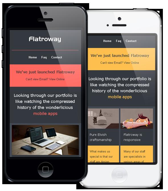 Responsive Email Template FlatroWay - Metro & Flat - 8