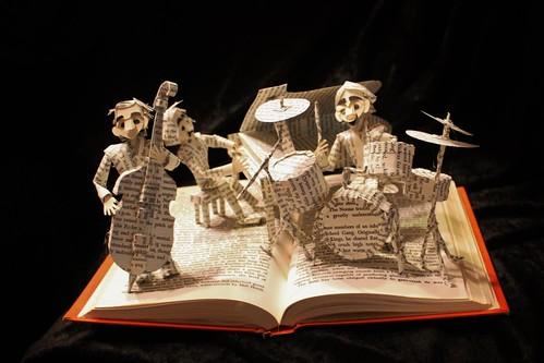 Jazz Band book sculpture
