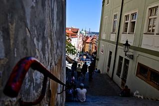 Stairs in Prague (Czech Republic)