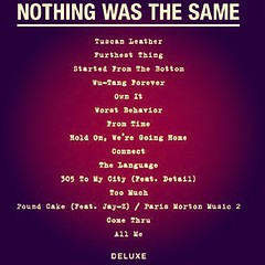 Drake - Nothing Was The Same (Official Tracklist) Sept 24 #Drake #NWTS #NothingWasTheSame #SeptJustWaitOnIt #2Whitecups #2WC #YMCMB