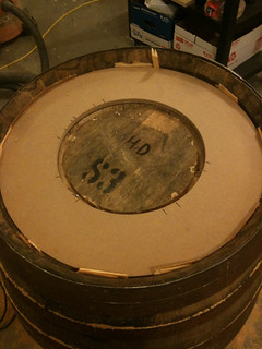 Whiskey barrel with router template