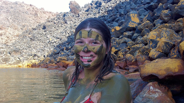 Volcanic mud at Santorini hot springs