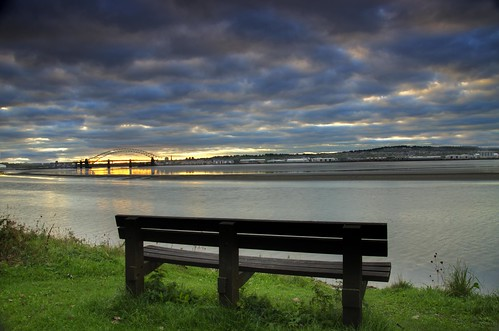 sunrise cloudy widnes rivermersey runcornbridge halebank pickeringspasture nikond7000 jeffpmcdonald sep2013