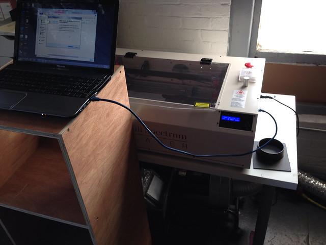 Laser setup 2