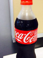 soft drink(1.0), carbonated soft drinks(1.0), bottle(1.0), drink(1.0), cola(1.0), coca-cola(1.0),