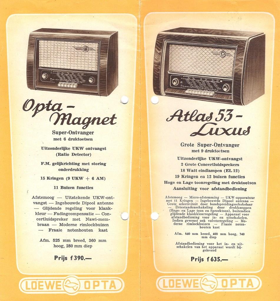 Loewe Opta Radio Dealer Brochure Holland 19524 Dealer