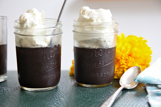 midnight black chocolate pudding