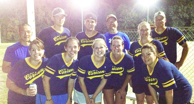 Team Corizon wins softball league!