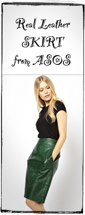 GREEN-leather-skirt