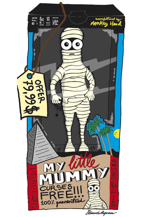 dibujo de una momia