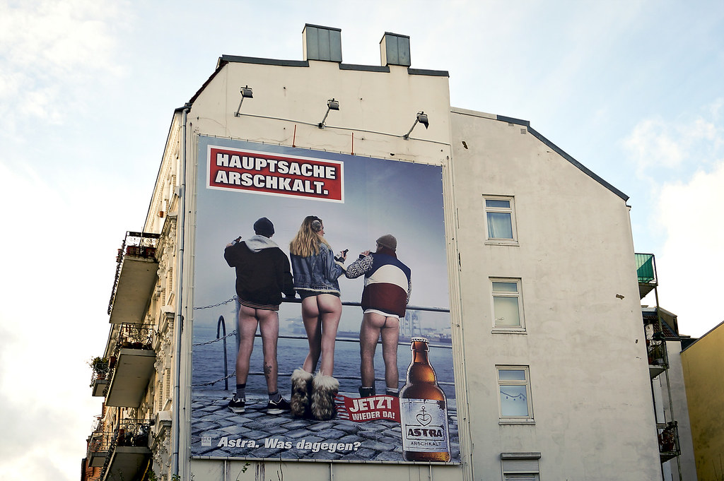 Häuserfront Hinterhöfe Hamburg