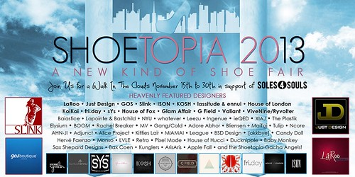 Shoetopia 2013 - Coming November 15th!