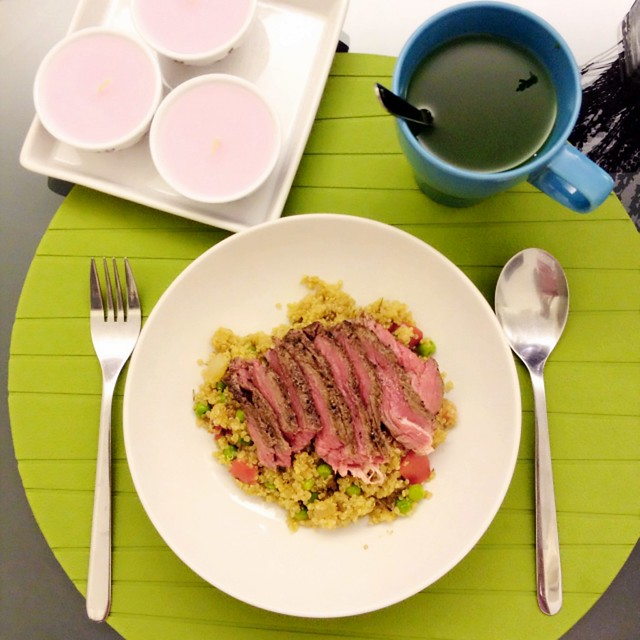 Steak Fillet with Rosemary Quinoa