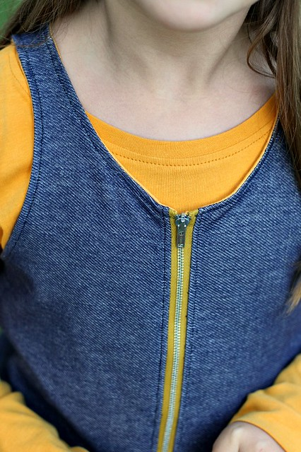 scandi series zipper detail
