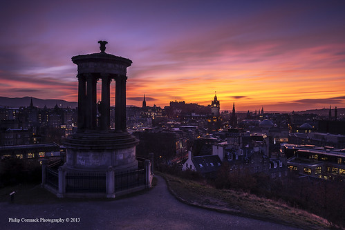 city sunset sun castle art monument beautiful clouds sunrise scotland edinburgh britain united great fine scottish atmosphere kingdom stewart prints iconic atmospheric fiery dugald