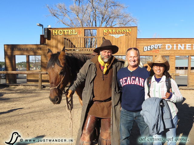 PIC: Bill and Maya at the Wild West Shootout right before boarding the Grand Canyon Railway (Williams, AZ)