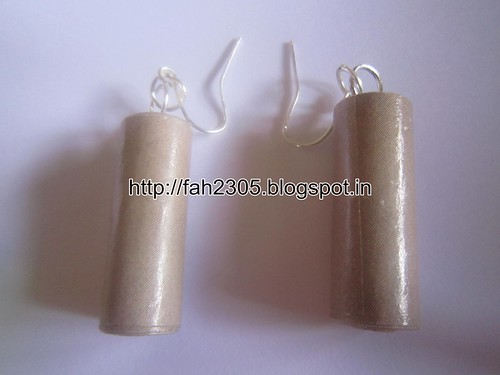Handmade Jewelry - Rolled Cylinder Paper Earrings (6) by fah2305