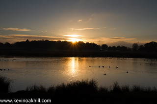 Sunrise over the Pen Ponds, Richmond Park, autumn 2013