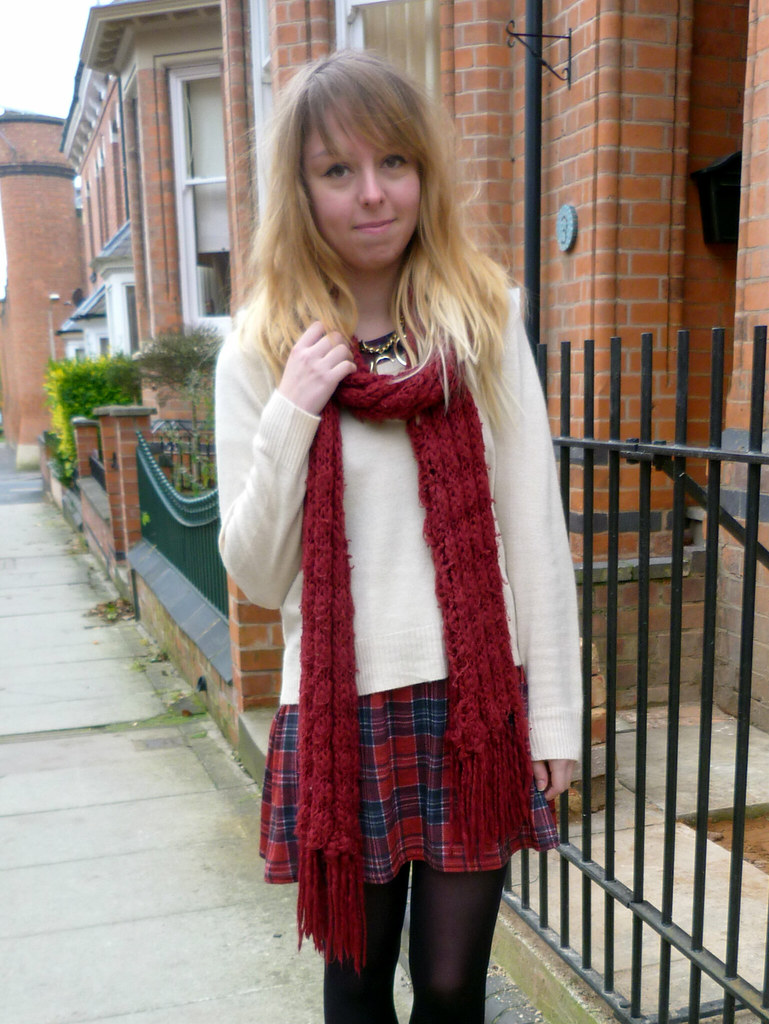 Tartan dress and cat dog shoes | Sheffield Fashion Blogger | Outfit post