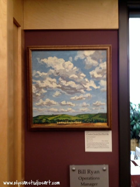 Cumulus Clouds Over Flint Hills at Buttonwood Art Space
