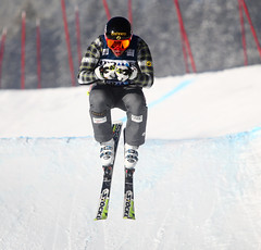 Dave Duncan in training at Nakiska during the FIS Ski Cross World Cup