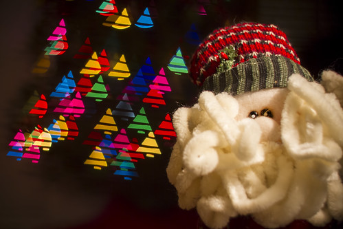 Santa / Tree Bokeh by Scerakor