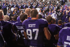 Go U, Northwestern! ::  	   The Northwestern University 'Wildcat' Marching Band performs at Ryan Field as Northwestern Wildcat Football competes against Western Michigan University on September 14, 2013.  Photo by Daniel M. Reck (GSESP08).