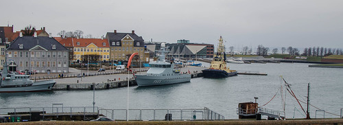 A Danish Navy ship in Helsingør