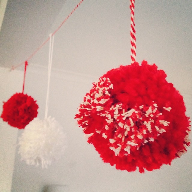 So festive here right now. #pompoms