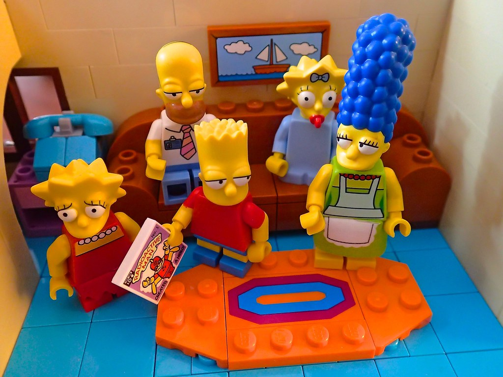 The Simpsons living room, in Lego. A longtime wish come tr ...