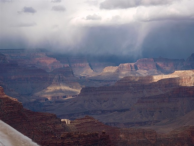 Sunlight and storms at the Grand Canyon