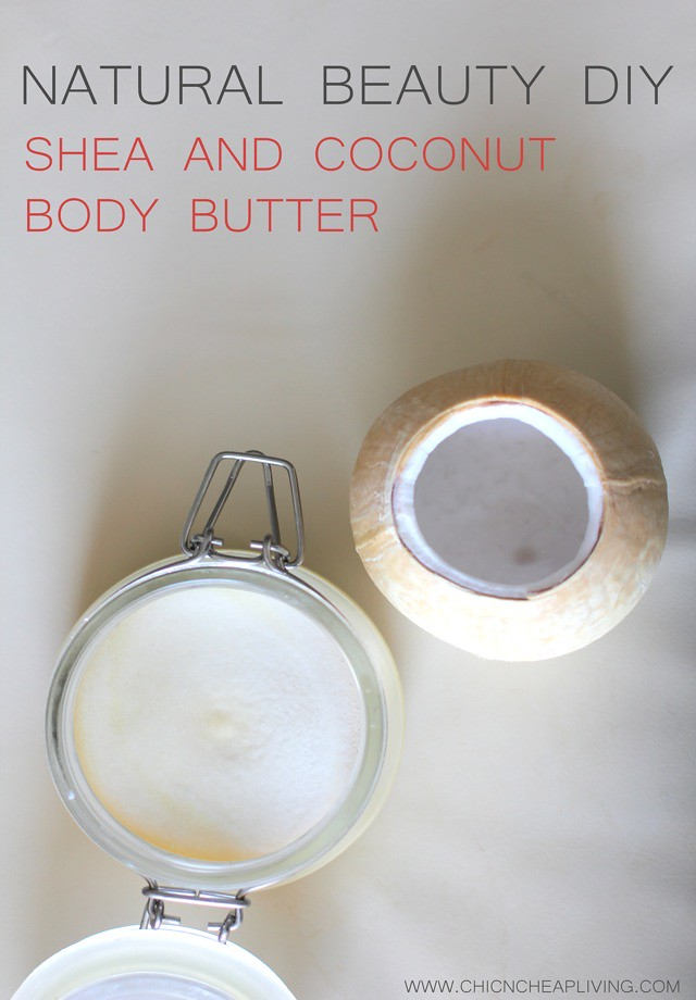 Shea and coconut body butter with coconut by Chic n Cheap Living