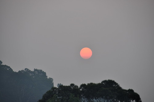 Smokey Melbourne Sunset 2014-02-11 #1