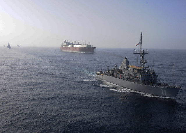 USS Gladiator Conducts Convoy Escort Operations